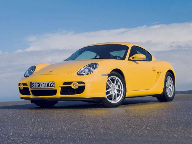 2007 porsche cayman yellow