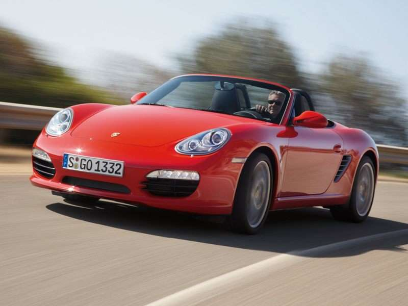 2010 porsche boxster red convertible