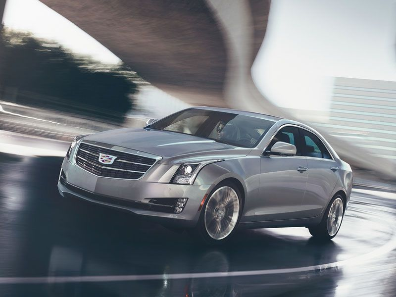 2017 Cadillac ATS sedan on road