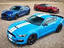 2017 Ford Shelby GT350 three colors