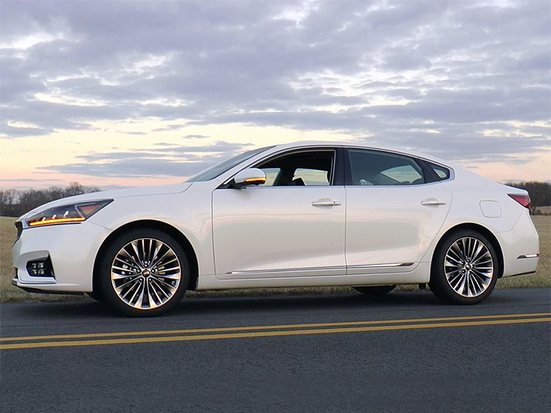 2017 Kia Cadenza side profile sunset