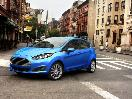 2017 Ford Fiesta Front Quarter Blue
