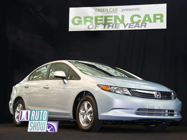 "2012 Honda Civic Natural Gas Sedan Named LA Auto Show ""Green Car of the Year"""