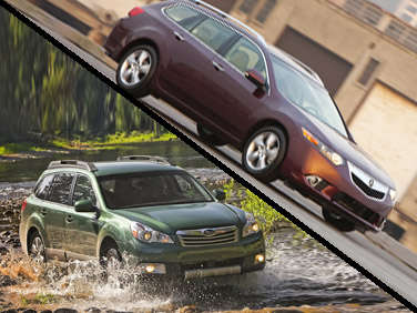 Clash of the Wagon Titans: 2012 Acura TSX Sport Wagon vs. 2012 Subaru Outback 3.6R Limited