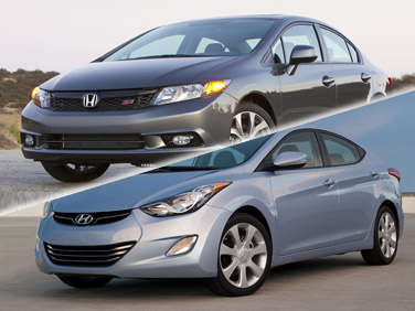 Compare: 2012 Honda Civic vs. 2012 Hyundai Elantra