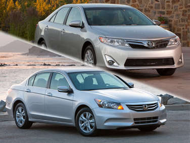 Compare: 2012 Toyota Camry vs. 2012 Honda Accord