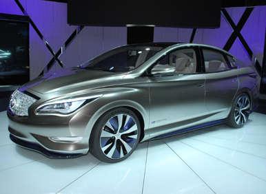 2012 New York Auto Show Debut: 2012 Infiniti LE Concept