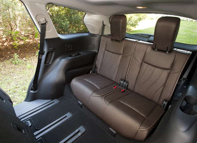 02.  The 2013 Infiniti JX Can Seat Seven Passengers