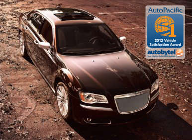 Top-Rated Large Car WInner: 2012 Chrysler 300