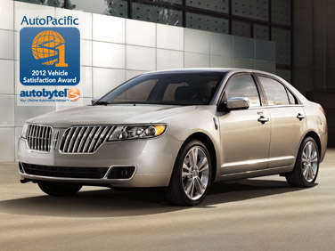 Top-Rated Luxury Mid-Size Car Winner: 2012 Lincoln MKZ