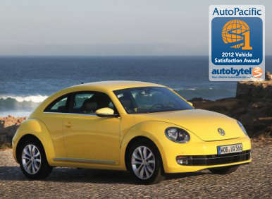 Top-Rated Compact Car Winner: 2012 Volkswagen Beetle