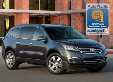 Top-Rated Large Crossover SUV Winner: 2012 Chevrolet Traverse