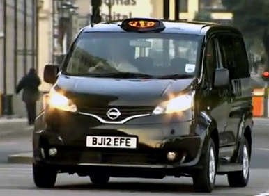 Nissan NV200 Taxi Heads to London