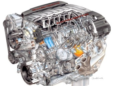 Chevrolet Shows off New LT1 V8 for 2014 Chevy Corvette