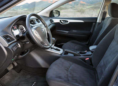 2013 Nissan Sentra Road Test and Review: Front Seats