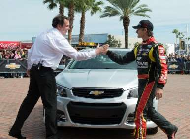 Patrick Pilots 2014 Chevy SS to Daytona Pole