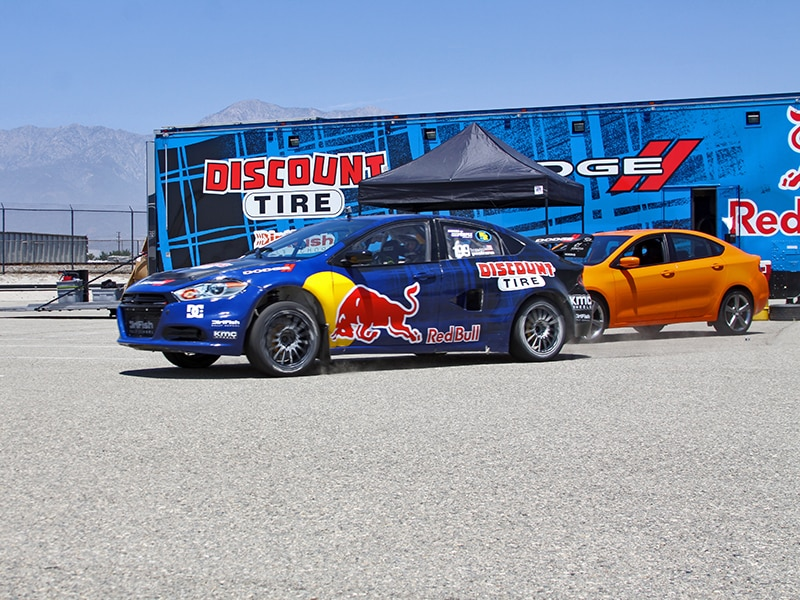 Travis Pastrana 2013 Dodge Dart GRC X Games Shakedown in Photos