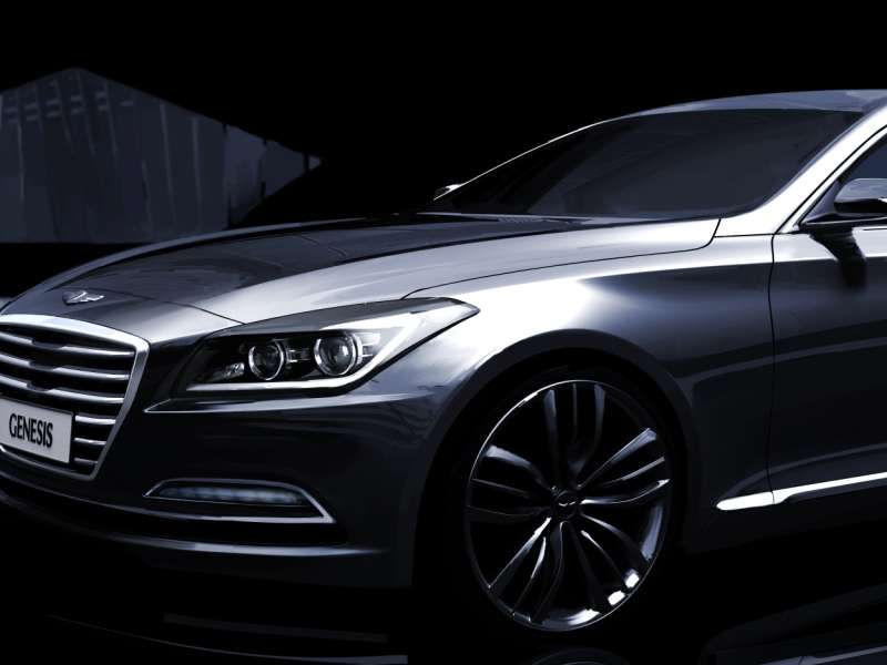 all new hyundai genesis sedan preview in south korea. Black Bedroom Furniture Sets. Home Design Ideas
