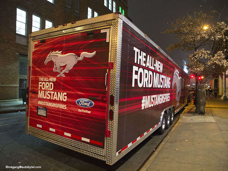 Photo Guide of the 2015 Ford Mustang Reveal in NYC