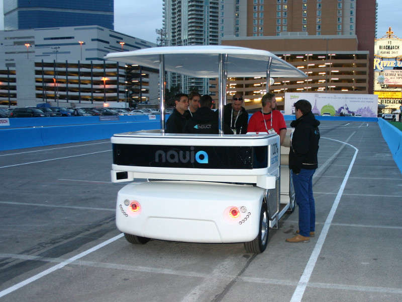 Induct Navia Driverless Vehicle: 2014 International CES