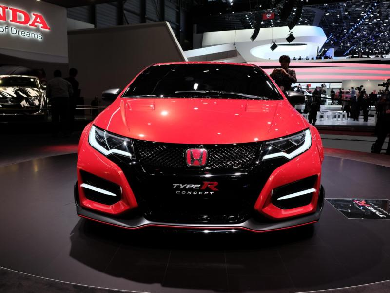 honda civic type r concept preview 2014 geneva motor show. Black Bedroom Furniture Sets. Home Design Ideas