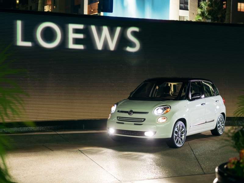 2014 Fiat 500L Now on Loews Room Service Menu