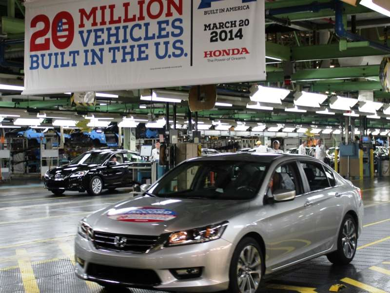 2014 Honda Accord Is 20 Millionth U.S.-Built Honda