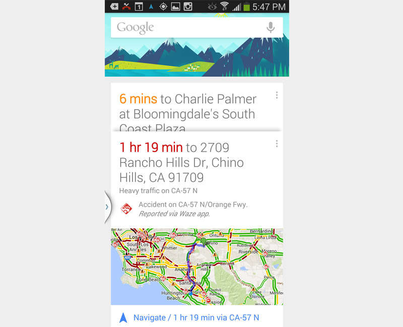 Google Now Can Save You from Being Stuck in Traffic