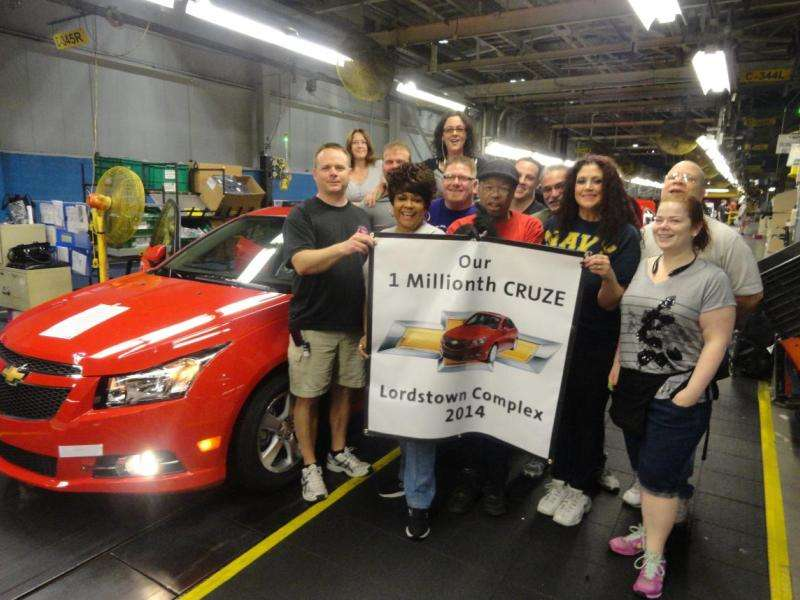 2015 Chevy Cruze to Benefit from $50 Million U.S. Manufacturing Investment