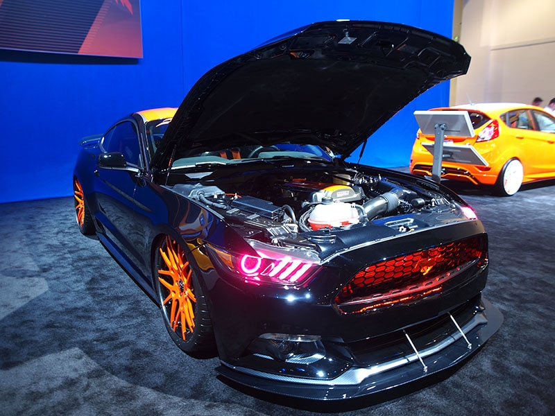 14 tuned ford mustangs at sema. Black Bedroom Furniture Sets. Home Design Ideas