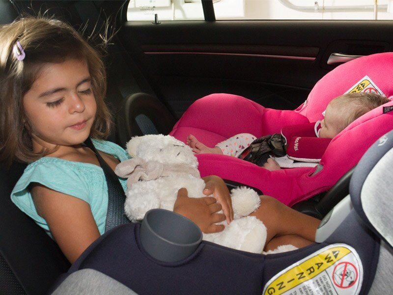 Children sleeping in car seats car pictures