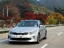 2016 Kia Optima Hybrid front 3/4 action on-road