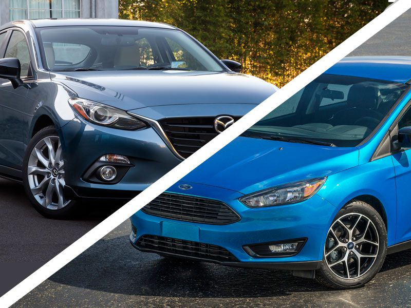 ford focus vs mazda mazda 3 See how the ford focus stacks up against the mazda 3 with a side-by-side comparison of price, features and specs compare car performance, mileage, fuel-efficiency, warranty and more.