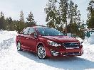 2017 Subaru Impreza in snow