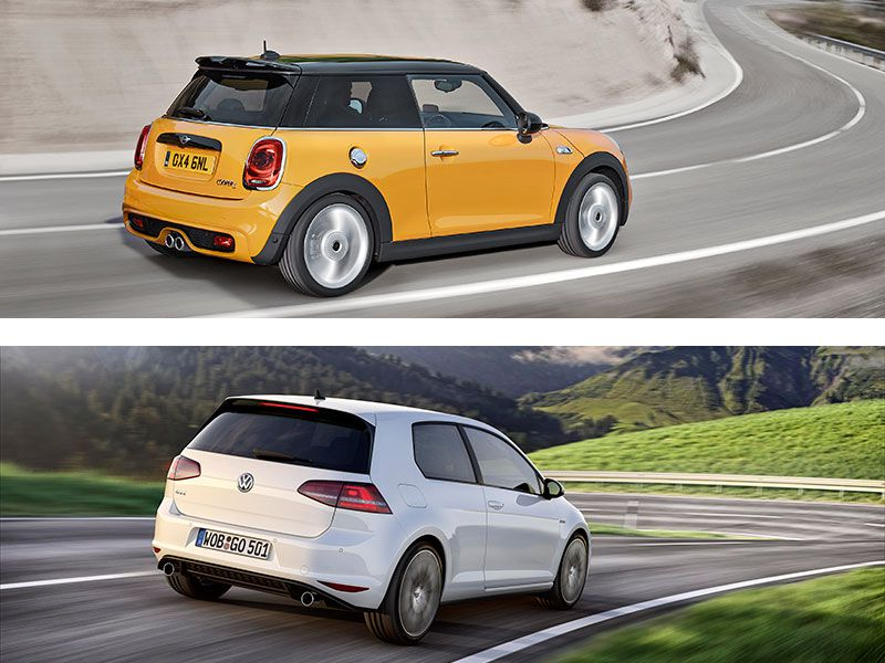 mini cooper s vs volkswagen gti which is best. Black Bedroom Furniture Sets. Home Design Ideas