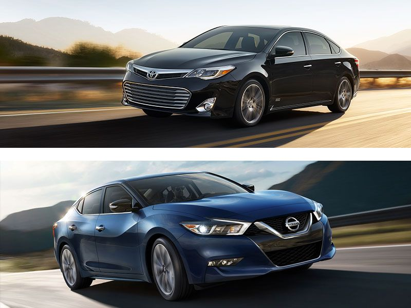 2016 toyota avalon vs 2016 nissan maxima which is best. Black Bedroom Furniture Sets. Home Design Ideas
