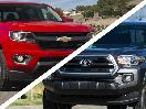 Chevrolet Colorado vs Toyota Tacoma grilles