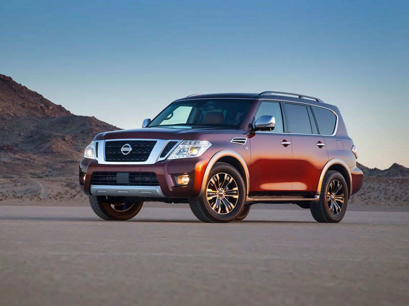 2017 Nissan Armada exterior hero brown