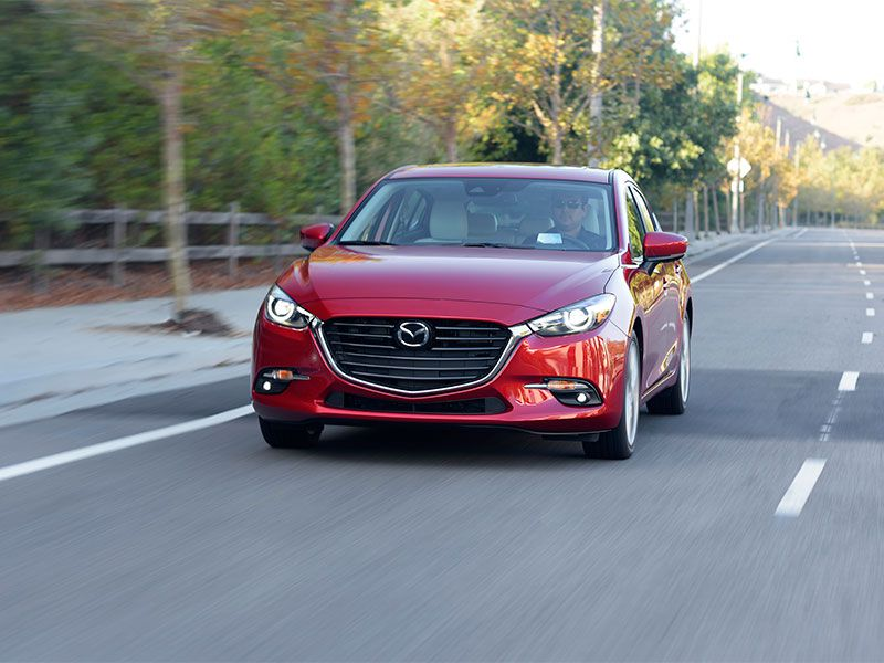2017 Mazda Mazda3 exterior front view on road