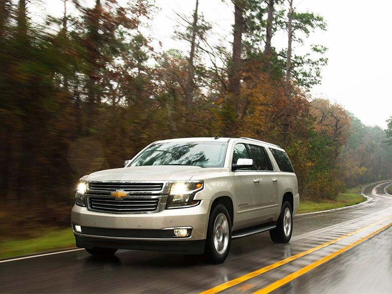 2016 Chevrolet Suburban on road