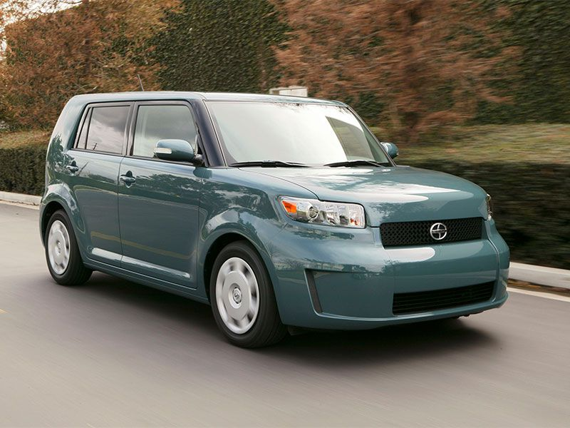 2009 Scion xB on road