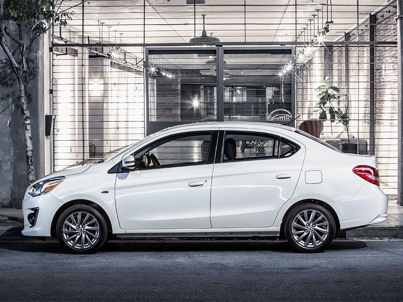 2017 Mitsubishi Mirage G4 exterior profile sedan