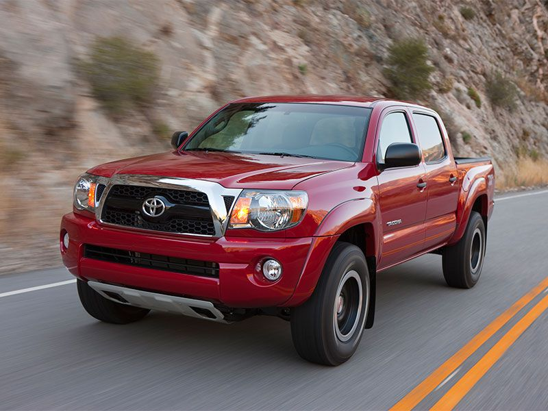2011 Toyota Tacoma on road