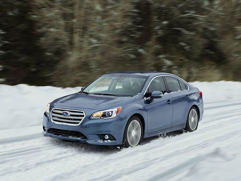 2017 Subaru Legacy in snow