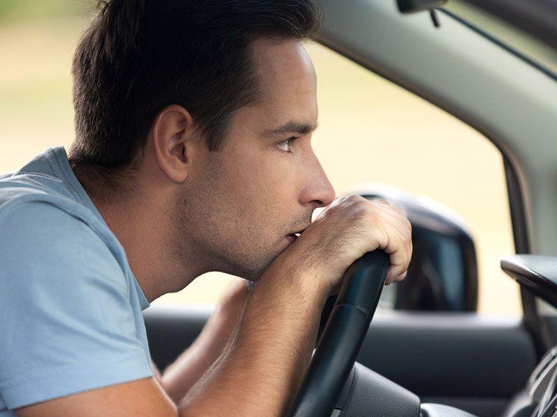 bigstock man thinking in his car