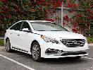2017 Hyundai Sonata exterior front angle by Miles Branman