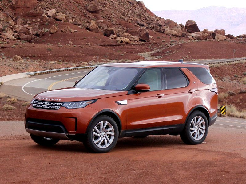 2017 Land Rover Discovery exterior front angle by Miles Branman