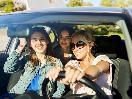 teen millennials in car