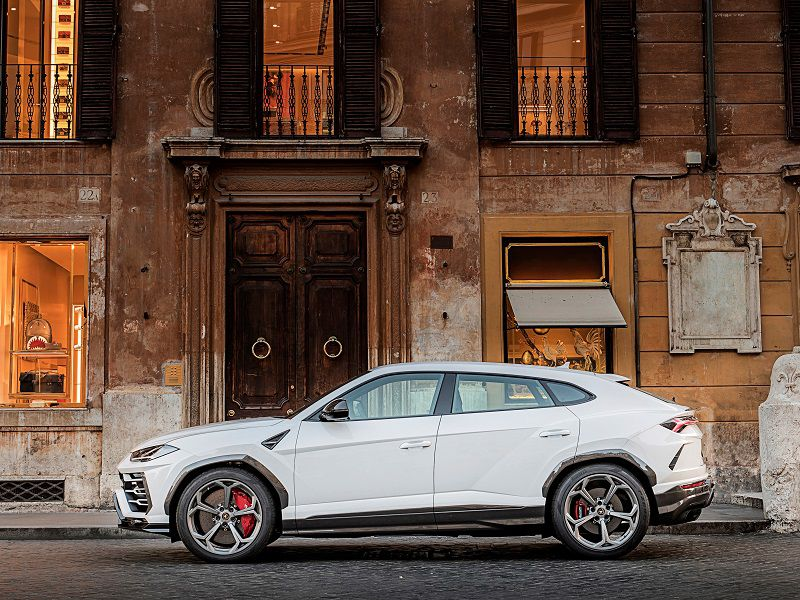 2019 Lamborghini Urus White Side Profile