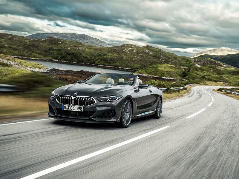2019 BMW 8 Series Convertible Black Front Three Quarter
